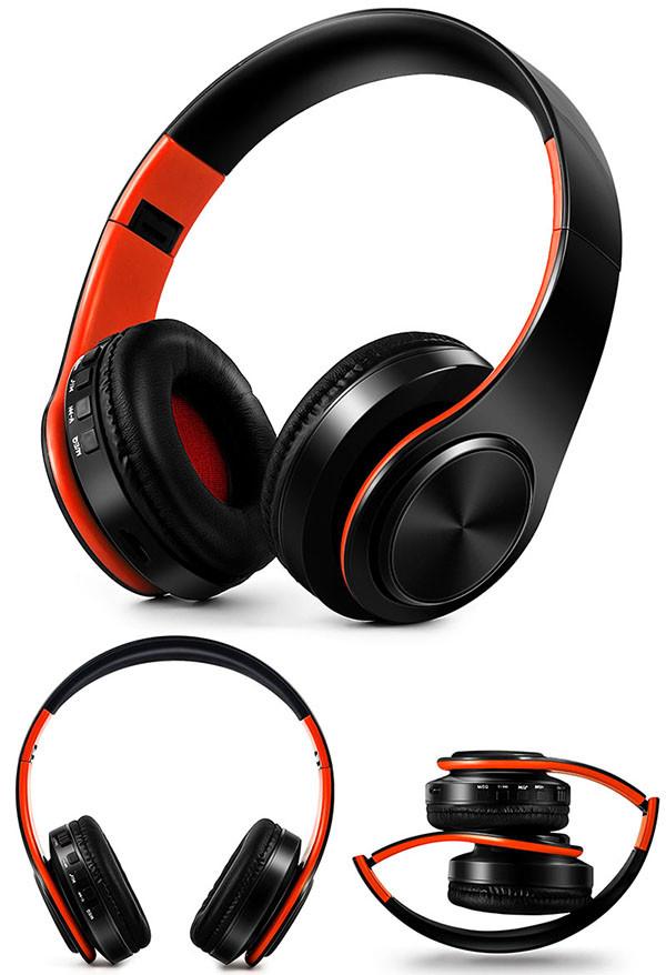 Słuchawki Bluetooth Headset słuchawki Bezprzewodowe Słuchawki Stereo Składany Sport Słuchawki Mikrofon słuchawki Tryb Głośnomówiący odtwarzacz MP3 19