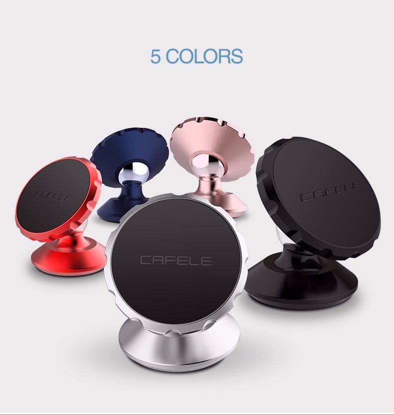 Cafele Oryginalny Uniwersalny Magnes Magnetyczne Telefon Samochodowy Uchwyt Obrót O 360 Stopni Uchwyt Samochodowy Uchwyt dla iPhone Samsung Smart Phone 2