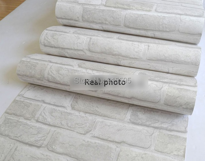 Głęboko Tłoczone 3D Tapeta Nowoczesna Zabytkowe Cegły Cegły Kamienia Wzór Papieru Rolki Tapety Dla pokoju gościnnego okładzina Ścienna Decor 11