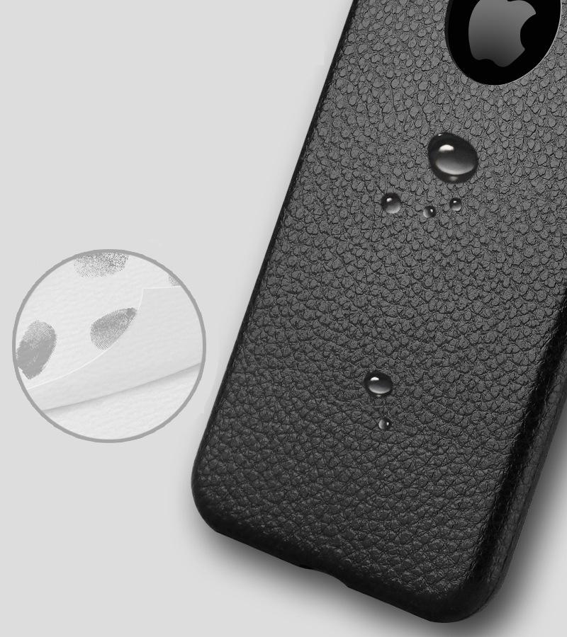 Dla iphone 7 plus iphone 7 case silicon ultracienkich tpu miękka skóra wzór case dla iphone 6 6s plus logo hole back cover czarny 10