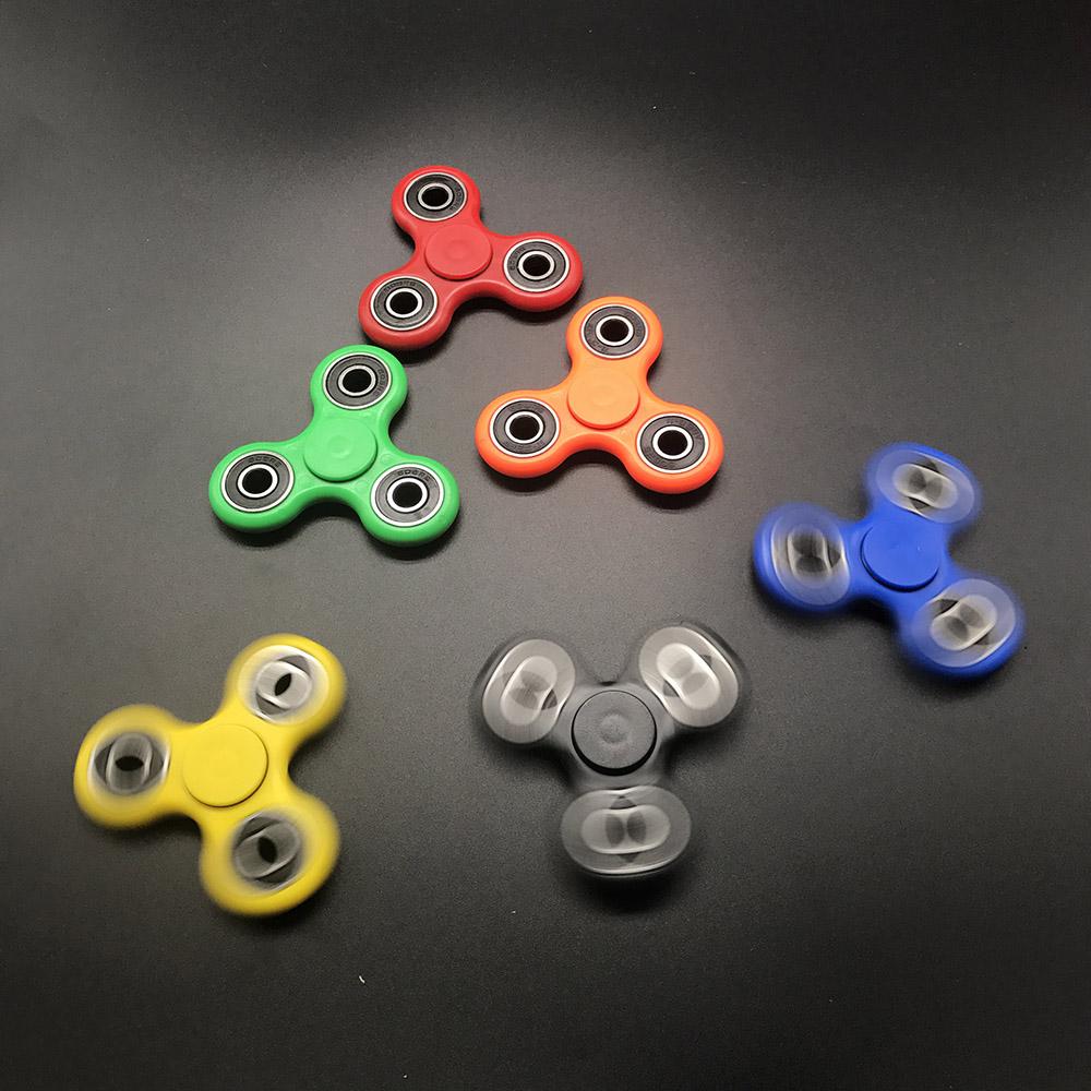 7 Kolory Koraliki Ceramiczne EDC Tri-Spinner Z Tworzywa Sztucznego Ręcznie Fidget Spinner Spinner Dla Autyzmu i ADHD Długi Czas Anty stres Zabawki 9