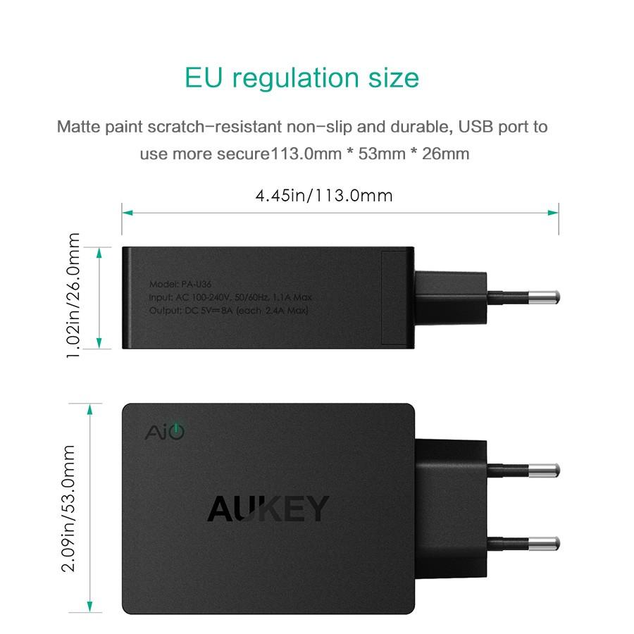 Aukey uniwersalny 4 porty usb ładowarka podróżna ładowarka ścienna adapter do iphone7 samsung s6 smart phones/pc/mp3 i usb urządzeń mobilnych 11