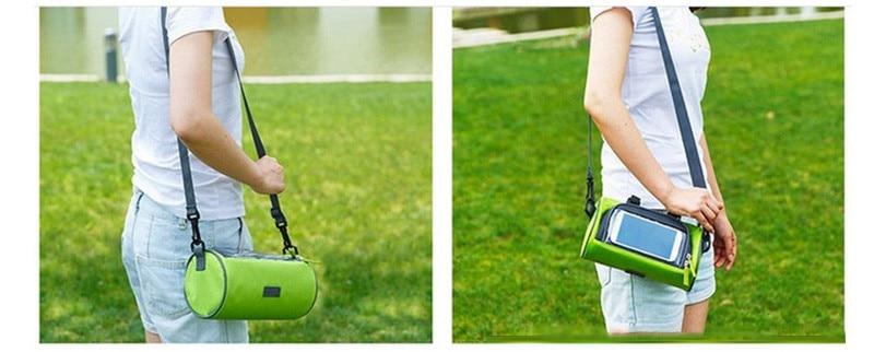 Wodoodporny Ekran Dotykowy Sakwy Rowerowe Rower Górski Rower Torby Phone Bag Case Rower Szosowy Rura Przednia Kierownica Torba Cylindra 10