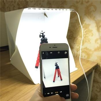 Folding Lightbox Photography Photo Studio Softbox with LED Light Soft