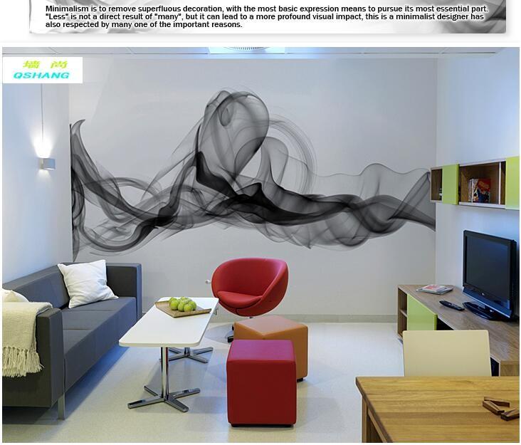 Niestandardowe 3D fototapety Dymu chmury streszczenie artystyczny fototapeta tapeta nowoczesna minimalistyczna sypialnia sofa TV obraz papier 8