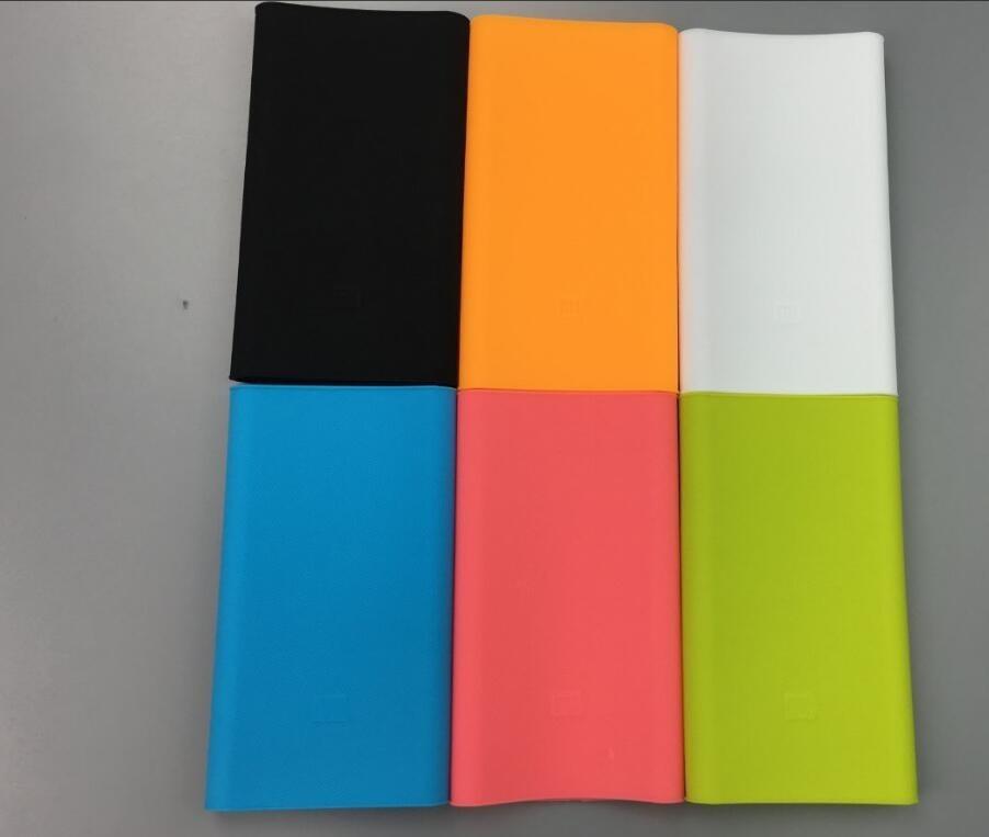 Wysoka jakość xiaomi banku mocy 2 10000 mah case 100% nadające się do mi 2nd generacji mocy banku pokrywa silikonowa case gel rubber case 7