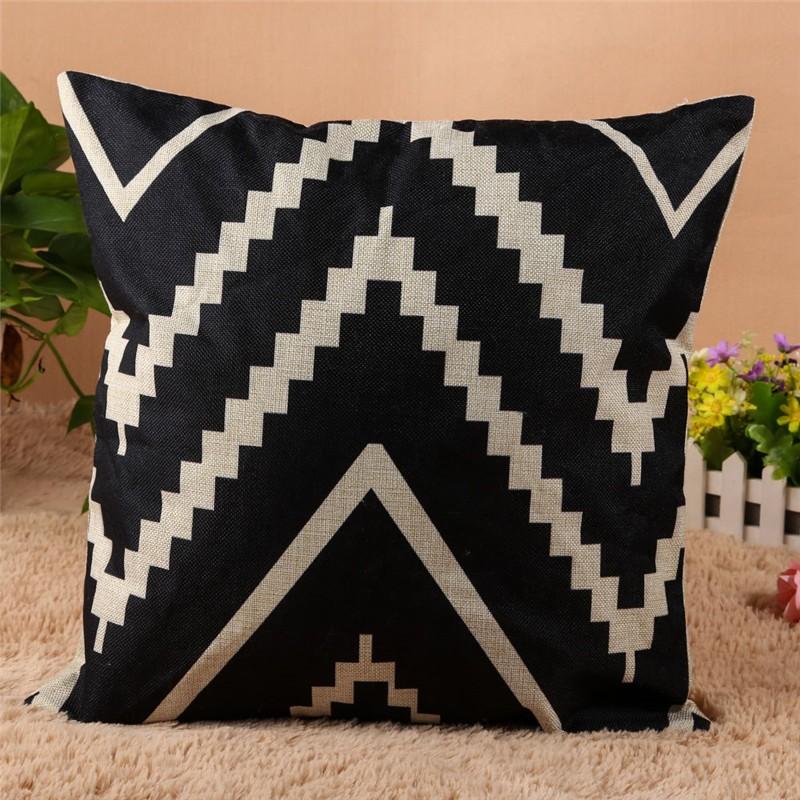 4 Types 45*45cm Vintage Fashion Cotton Linen Cushion Cover Throw Pillow Case Sofa Car Decor Cushion Cover 6