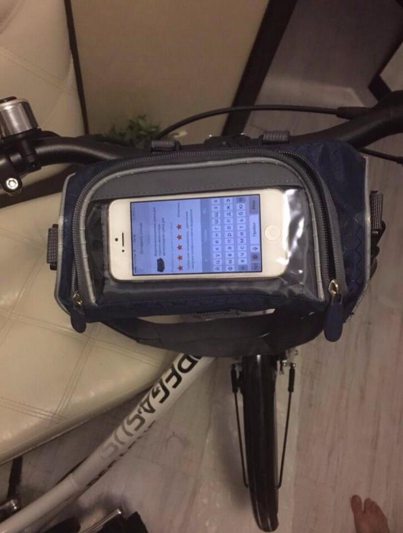 Wodoodporny Ekran Dotykowy Sakwy Rowerowe Rower Górski Rower Torby Phone Bag Case Rower Szosowy Rura Przednia Kierownica Torba Cylindra 3