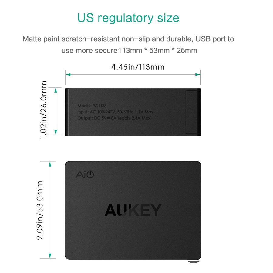 Aukey uniwersalny 4 porty usb ładowarka podróżna ładowarka ścienna adapter do iphone7 samsung s6 smart phones/pc/mp3 i usb urządzeń mobilnych 13
