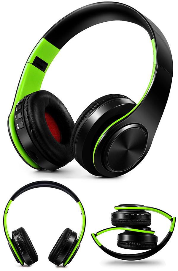 Słuchawki Bluetooth Headset słuchawki Bezprzewodowe Słuchawki Stereo Składany Sport Słuchawki Mikrofon słuchawki Tryb Głośnomówiący odtwarzacz MP3 17