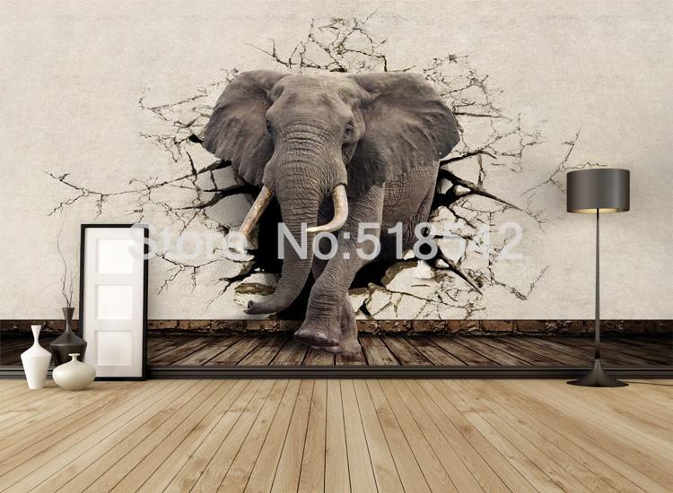 Dostosowane fototapety 3d realistyczne mural nosorożec zwierząt lew słonie włókniny sypialnia mural home decor tapety ścienne 3d 5
