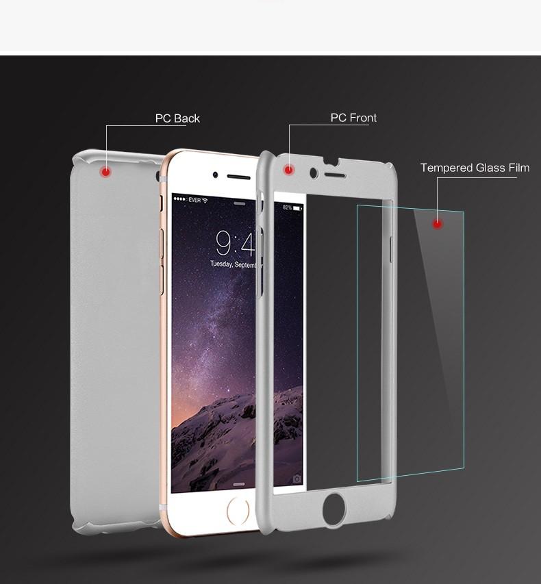 Floveme 6 s 7 plus armor screen protector 360 stopni case dla iphone 7 6 6 s dla iphone 6 6s 7 plus full chroń odporny na wstrząsy pokrywa 11