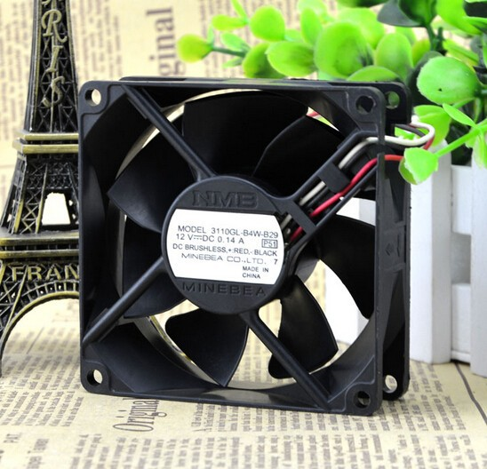 Genuine NMB 3110GL-B4W-B29 12V 0.14A 8CM 8025 3 lines radiating fan