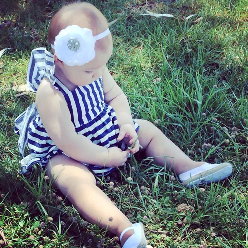0-24 M Newborn Baby Dziewczyny Odzież Dla Niemowląt Dzieci Letnie Sukienki W Paski Top + Figi 2 sztuk Outfit Malucha dzieci Odzież Ustaw 5