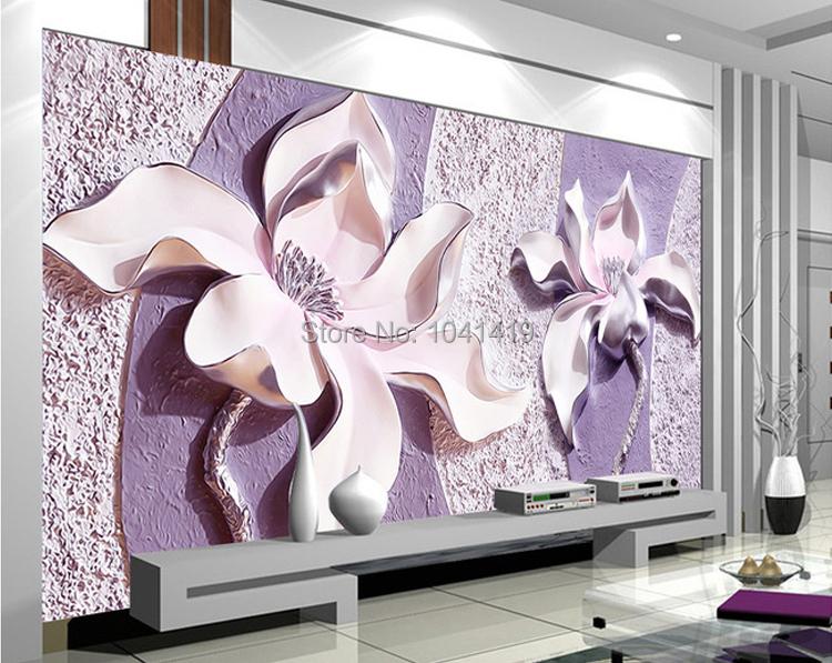 Niestandardowe Zdjęcia Tapety Stereoskopowe 3D Kwiaty Salon Sofa Tło Tapeta Nowoczesna Home Decor Pokoju Krajobraz Malowidła Ścienne 4