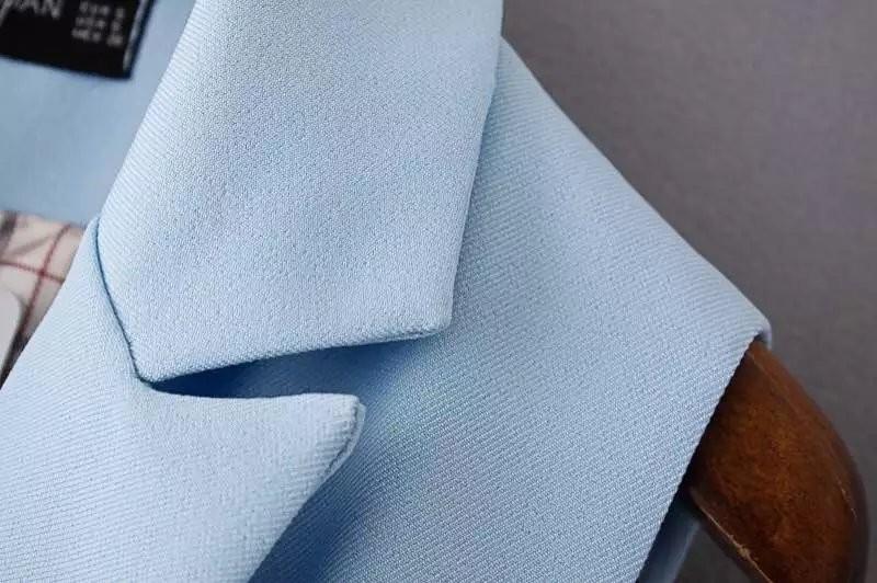 2017 wiosna nowy mody długie kieszenie turn-dół collar otwórz stitch pantone niebieski różowy beżowy czarny żakiet kamizelka bez rękawów kurtki 36