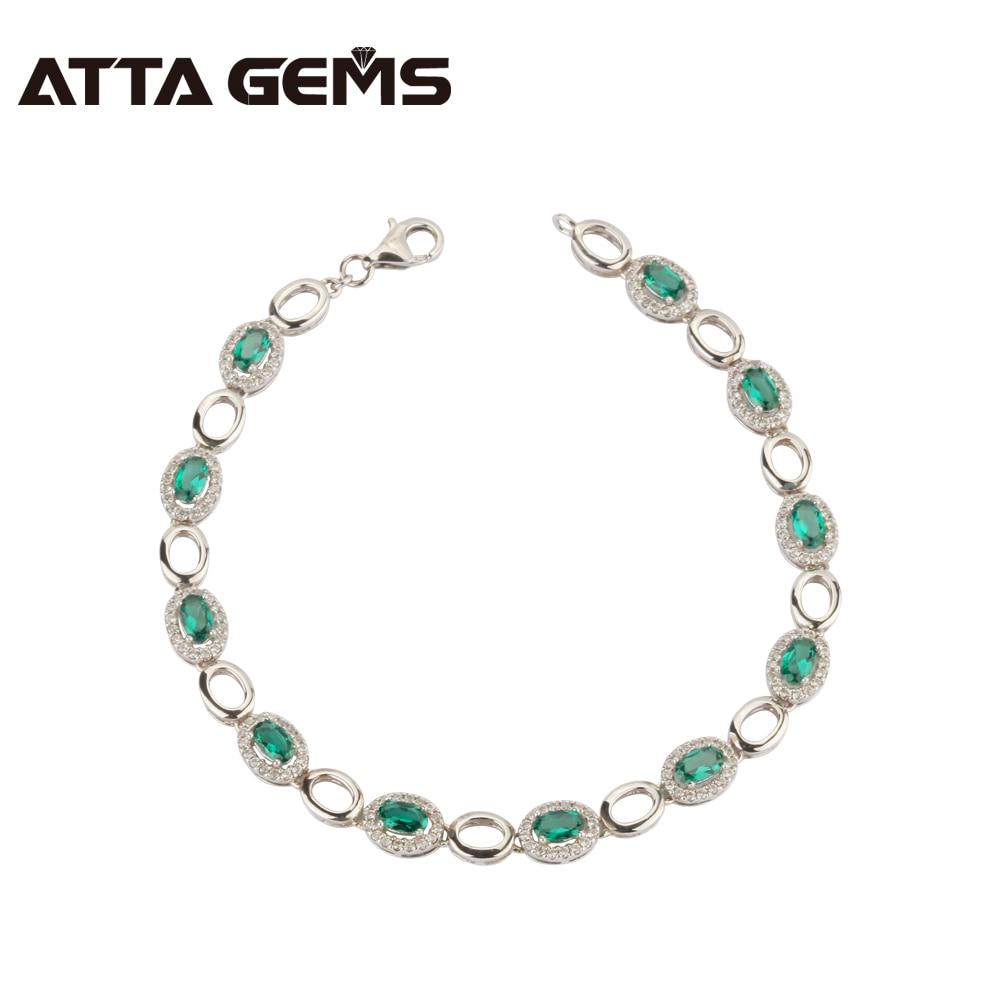 163011465e93 Comparación de precios Verde esmeralda de Plata de Ley 925 pulsera de plata  3 35 pulsera quilates Esmeralda en