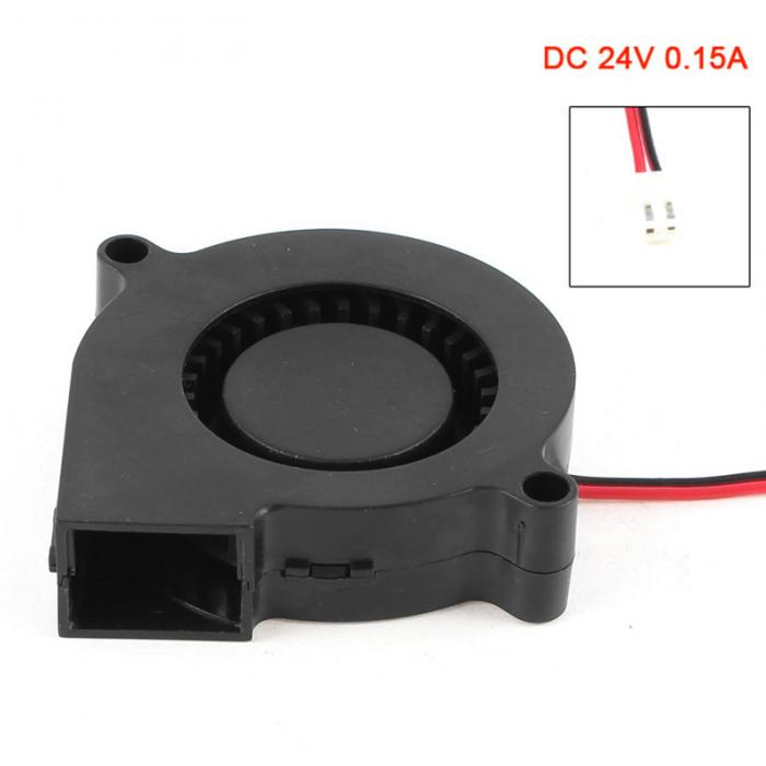 2 Pin Connector Brushless DC 24V 0.15A Turbo Blower Cooling Fan 50mm x 50mm x 15mm EM88