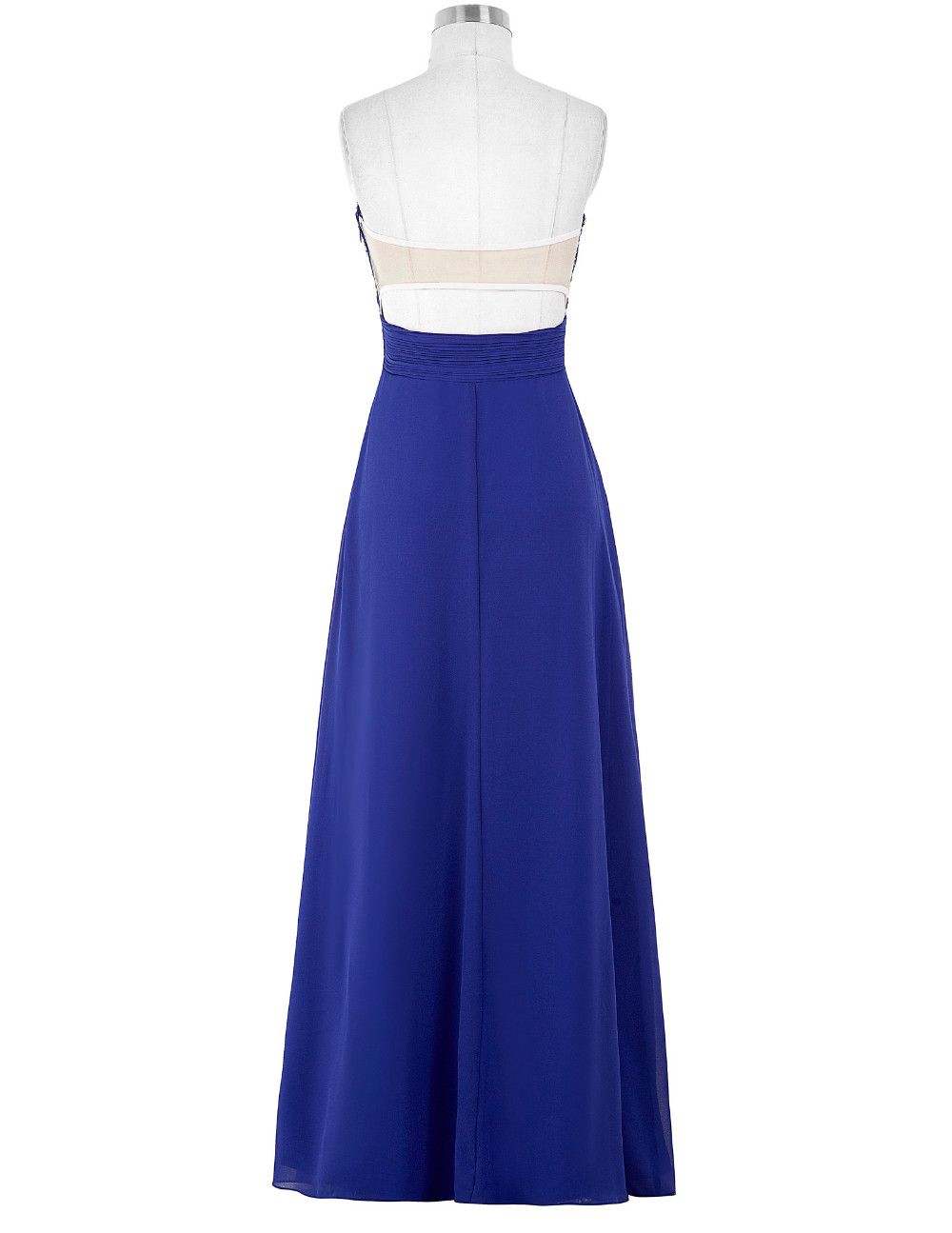 Lavender Green Royal Blue Long Chiffon Bridesmaid Dress 8
