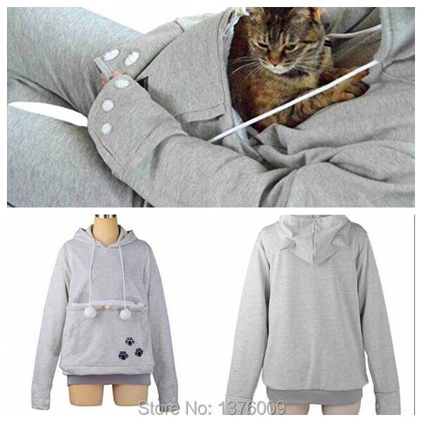 Cat hoodie bluzy z cuddle etui dog pet bluzy dla casual swetry z uszami 6
