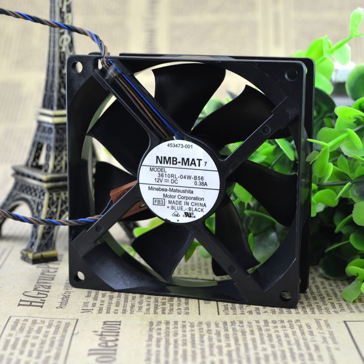 NMB 3610RL-04W-B56 FB4 DC 12V 0.38A 90mm 90x90x25mm Server Square Cooling fan