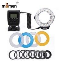 Mamen מאקרו LED טבעת פלאש אור מצלמה LCD תצוגת Speedlite צילום אור עבור Sony ניקון Canon 60D 80D 600D 1300D 70D