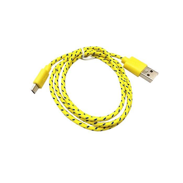 1 m 2 m 3 m nylon pleciona tkanina micro usb cable ładowarka danych kabel usb do synchronizacji przewód do samsung galaxy htc android smart phone 1 sztuk 12