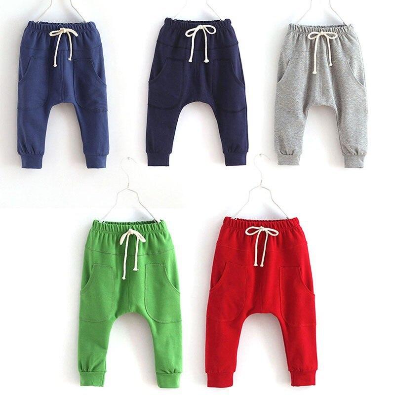 Dla dzieci Chłopcy Dzieci Dziecko Miękkiej Bawełny Jesień Dorywczo Spodnie Harem Spodnie Dna 2-7Y 1