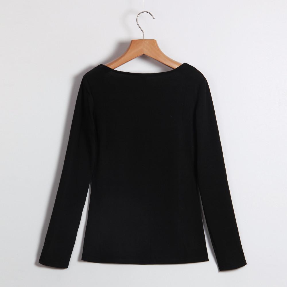 Kobiety Koszulki Z Długim Rękawem Topy Hollow Out Bandaż Swetry Slim Sexy Topy Tees Blusas plus size LJ4515M Femme 6