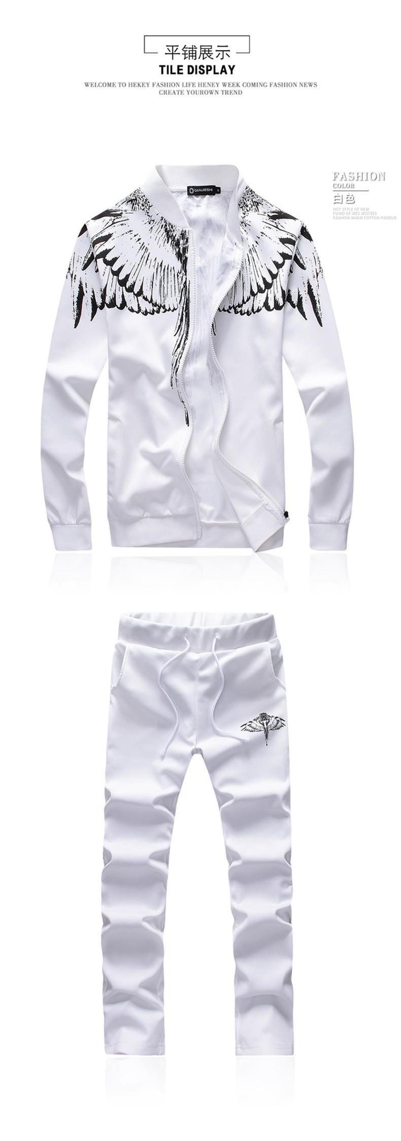 Marka-Odzież Dres Dorywczo SportSuit Męskie Odzieży Męskiej Mody Wiosna/Jesień Bluzy/Bluzy Żakiet + Spodnie Dres Polo 2016 3