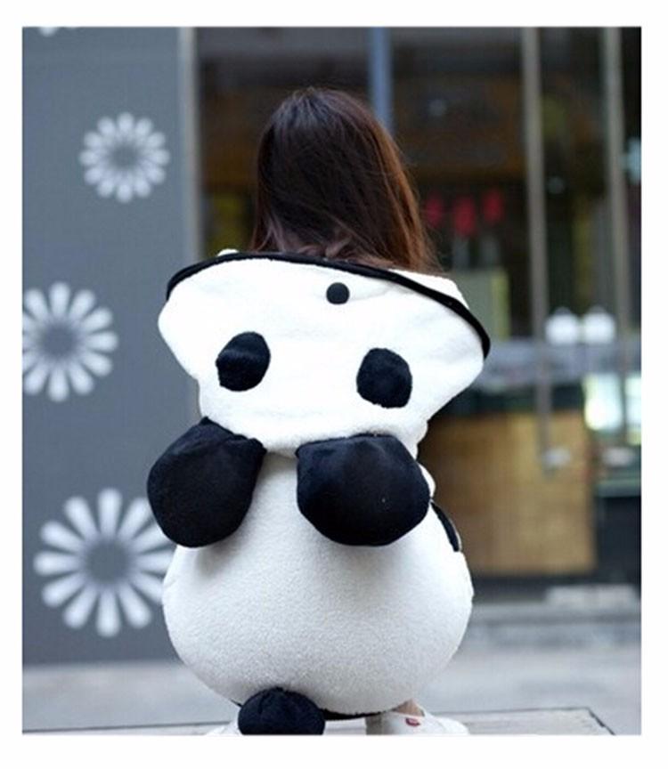 2017 Korea Zima Puszyste Panda Ucha Kobiety Swetry z Wełny Kaptur Batwing rękaw Bluza Dorywczo Słodkie Znosić sudadera mujer 5