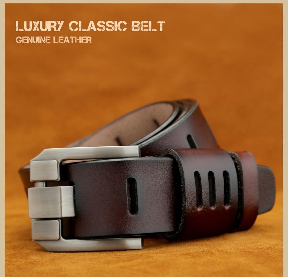 [Miluota] pasy designer mężczyźni wysokiej jakości prawdziwy skórzany pas dla mężczyzn luksusowe ceinture homme military style 130 cm mu012 2
