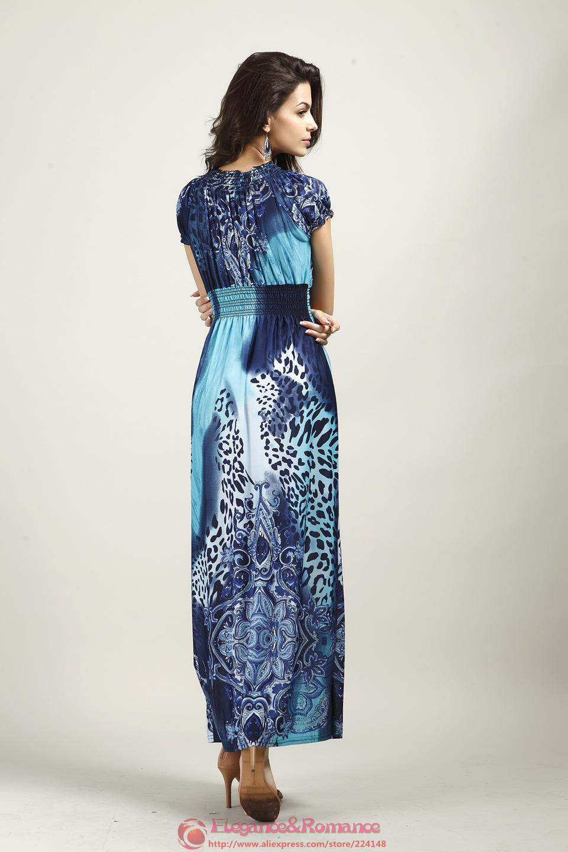 2016 New Retail Wiosna I Lato Moda Na Plaży Sukienka Leopard Sukienka Czeski Mopem Duży Rozmiar Ice Silk Suknie 16