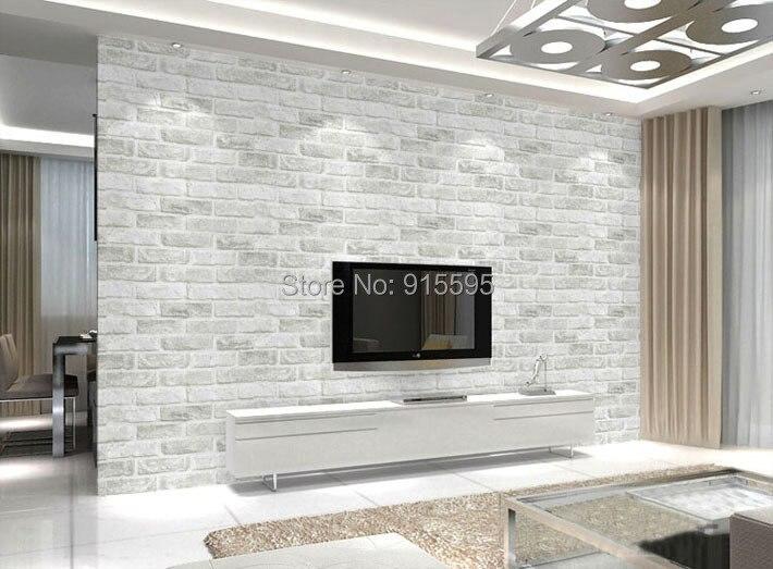 Głęboko Tłoczone 3D Tapeta Nowoczesna Zabytkowe Cegły Cegły Kamienia Wzór Papieru Rolki Tapety Dla pokoju gościnnego okładzina Ścienna Decor 5