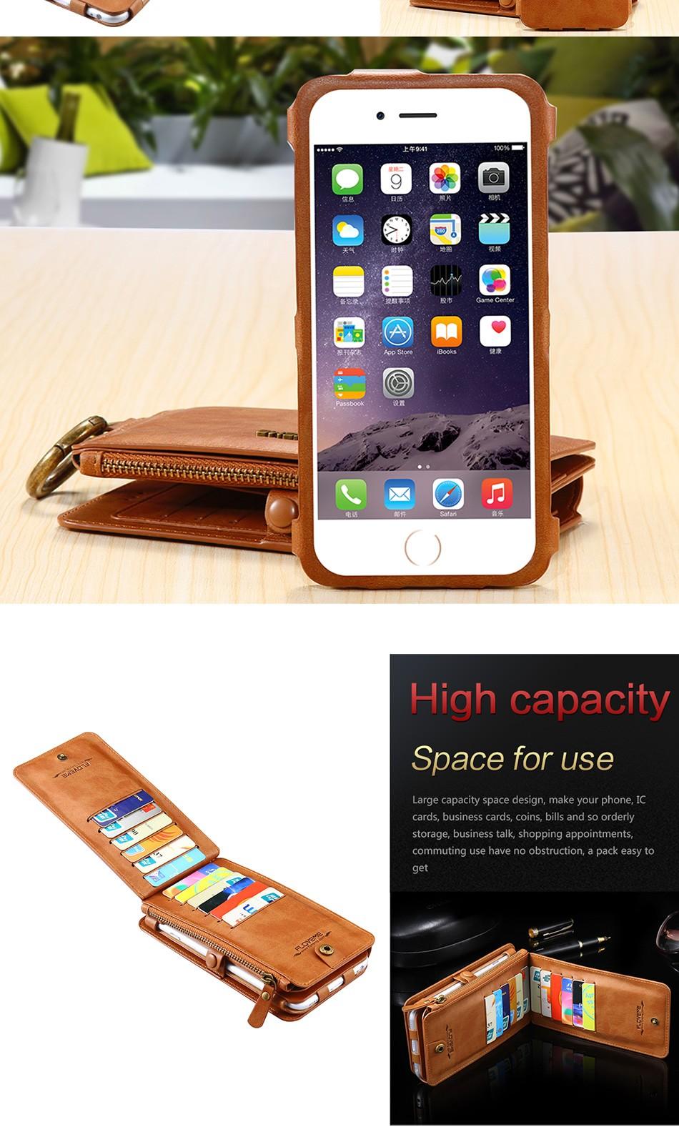 Floveme oryginalny retro skóra telefon case for iphone 6s 6 4.7 dla iphone6s iphone 6s przypadki metalowy pierścień coque pokrowce na iphone 7 7