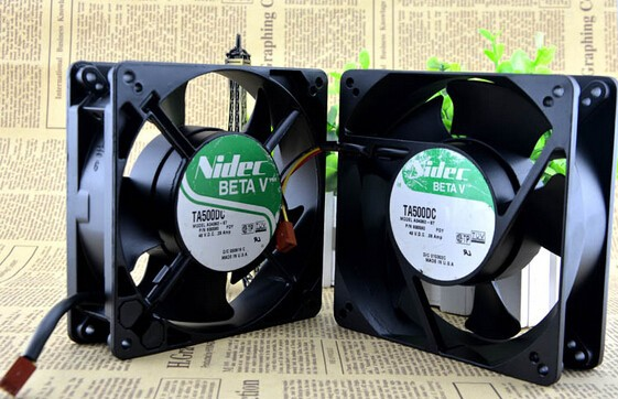 original Nidec 127x127x38mm A34362-87 48V high temperature cooling fan P/N 930596