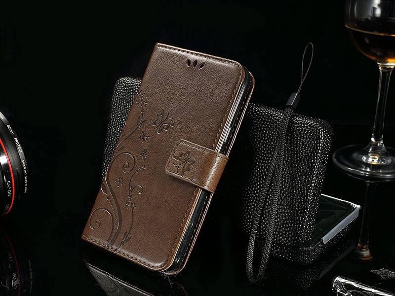 Dla microsoft nokia lumia 640 lumia 630 lumia 550 worek nadrukowane butterfly pu wizytownik skórzany telefon okładka case shell 19