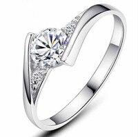 슈퍼 반짝이 CZ 지르콘 30% 실버 도금 여성 손가락 결혼 반지, 주얼리 생일 선물 드롭 배송, 인기 판매