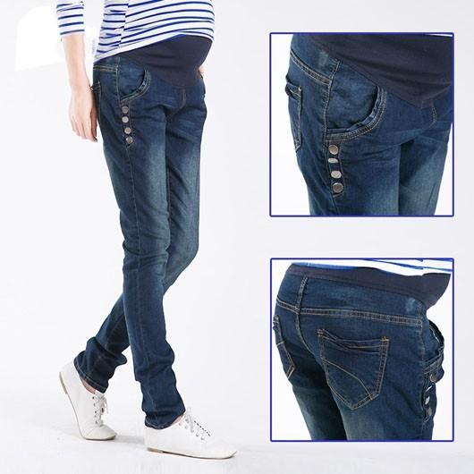 Spodnie Ciążowe jeansowe Spodnie Jeansowe Spodnie Dla Kobiet W Ciąży Ciąża Odzież Laktacja Ropa Para Embarazadas 2017 Ubrania Matki 2