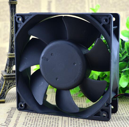 The original Delta AFB1224VHE 24V 0.57A 12cm120*120*38 2 wire converter cooling fan