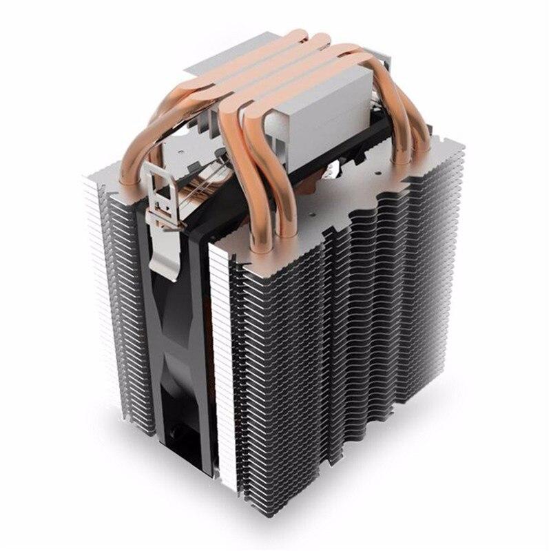 3pin Quiet 4 Heatpipe Radiator Cpu Cooler Heatsink For