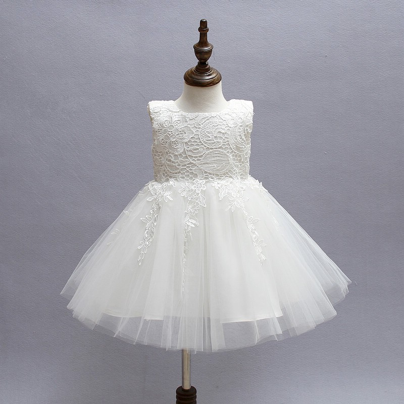 Ivory Tulle Lace Flower Girl Dress 1