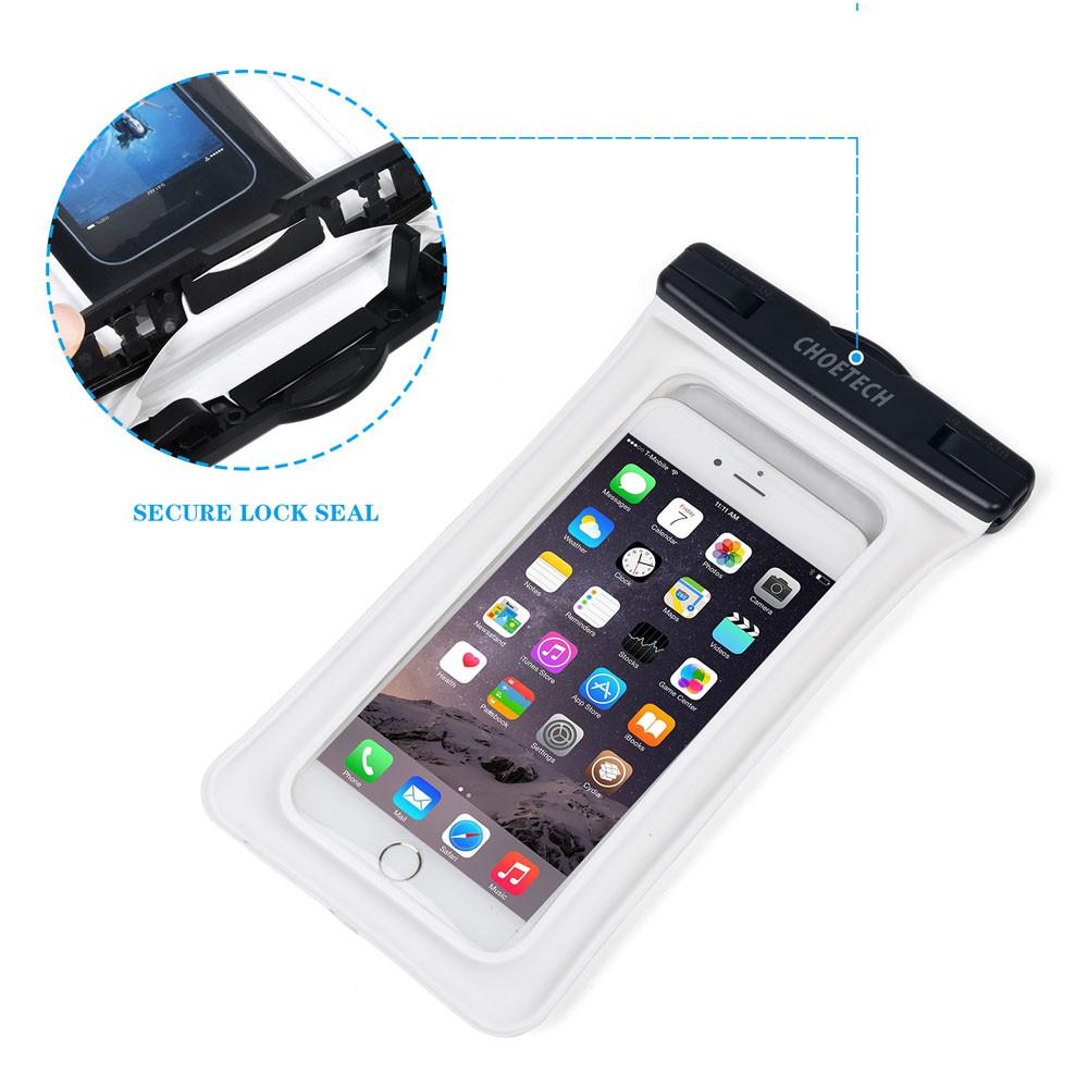Choetech nadmuchiwane worki wodoodporne etui telefon komórkowy 30 m podwodne pralnia case pokrywa dla iphone 5 5s 6 6s plus/samsung/lg/xiaomi 4