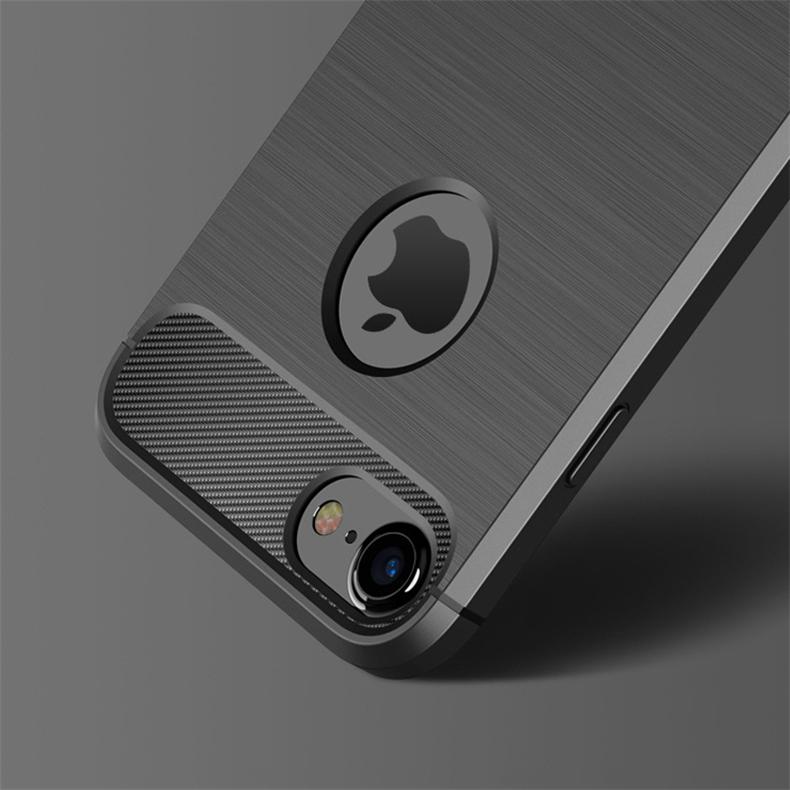 Luksusowe wstrząsoodporny telefon case for iphone 7 7 plus 6 6 s plus 5 5S se case new carbon fiber miękka tpu rysunek phone case back cover 6