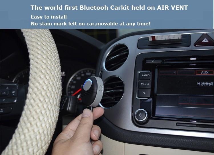 Poziom hałasu anulowanie zestaw samochodowy bluetooth AUX zbudowany w izolowane IC 3