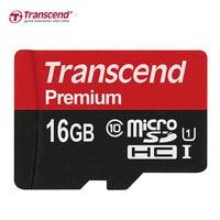 Оригинальный Transcend 16 ГБ 32 ГБ 64 Гб MicroSD MicroSDHC MicroSDXC Micro SD карта SDHC SDXC читать 90 МБ/с./с. класс 10 UHS-1 TF карта памяти