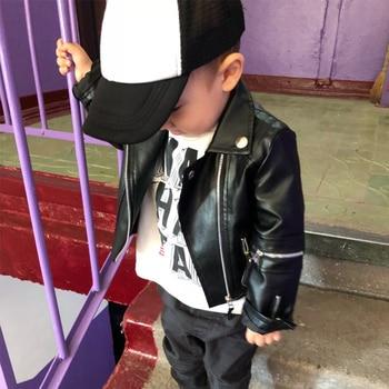 3b8b5c04e901 Jackets  amp  Coats. Cheap Jackets  amp  Coats. boys PU jacket 1 7 years  old children coat cuff zipper all match motorcycle leather kids