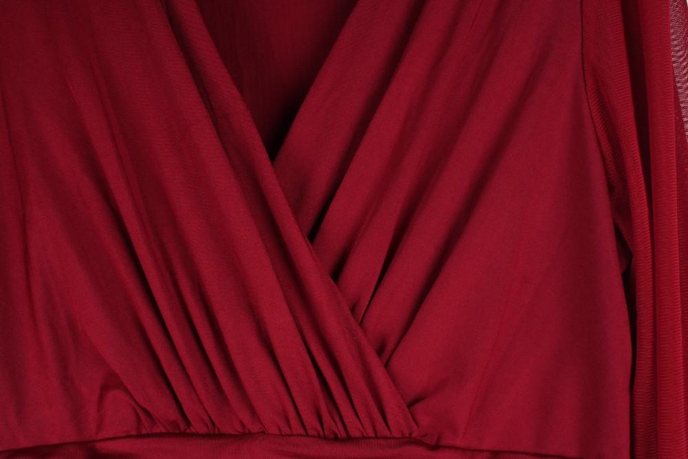 Szanowny Kochanek Długie Czarne Pajacyki kobiet Kombinezon Zimowy Jesień Party Dekolt Zdobione Mankiety Mesh Rękawy Luźne Klub Spodnie LC6650 8
