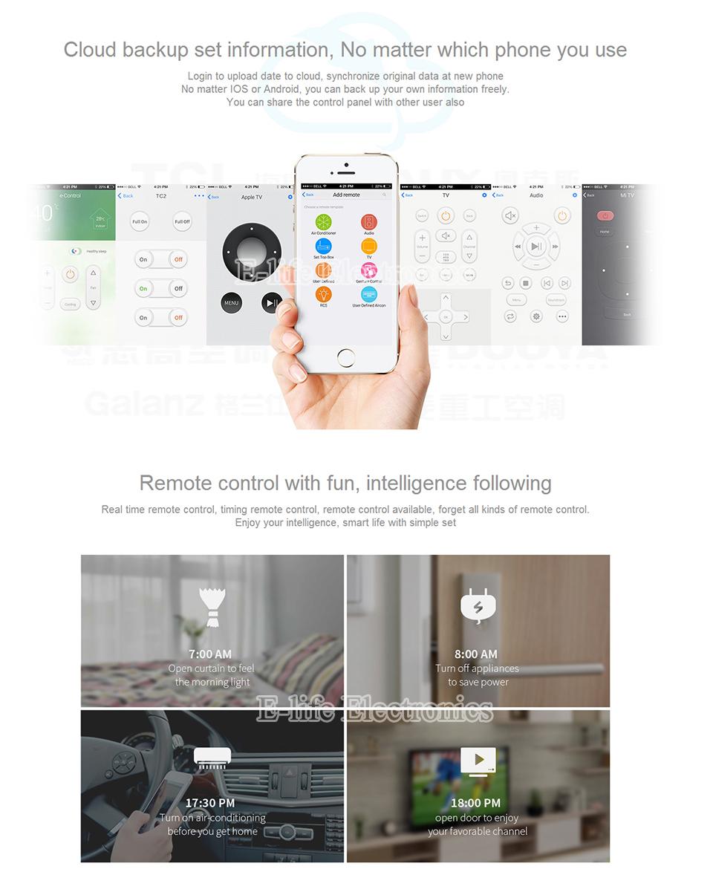 2017 Broadlink RM03 RM PRO Uniwersalny Inteligentny Pilot Smart Home Automation WiFi + IR + RF Przełącznik Poprzez IOS Android Telefon 17