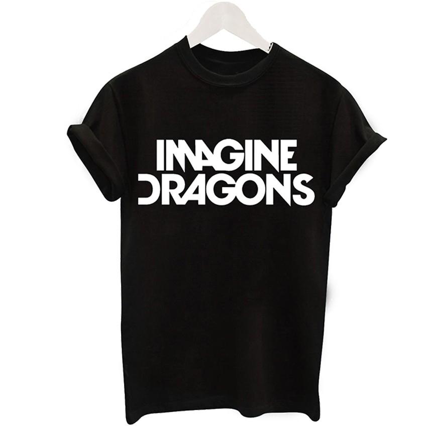 2016 Harajuku Czarny T-shirt Kobiety Panie Topy Jednorożec List Wydrukuj Casual Śmieszne Koszulki z krótkim rękawem Tee Shirt Femme Luźne 14